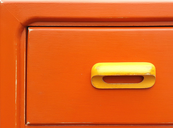 Retro Modern dresser top left corner detail