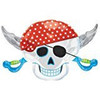 PIRATE PARTY SKULL FOIL BALLOO