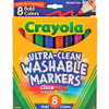 WASHABLE MARKERS BOLD 8 COLORS