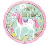 HAPPY BIRTHDAY MAGICAL UNICORN FOIL BALLOON 18 INCHES