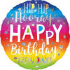 HOLO HIP HIP HOORAY BIRTHDAY FOIL BALLOON