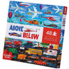 ABOVE & BELOW THINGS THAT GO PUZZLE 48 PCS