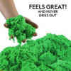 NAT GEO PLAY SAND 2 LBS GREEN