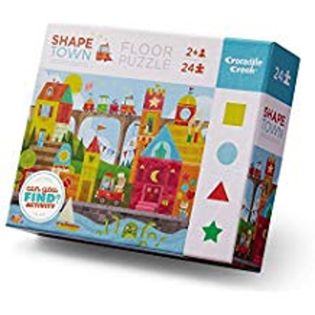 EARLY LEARNING PUZZLE SHAPE TOWN 24 PCS