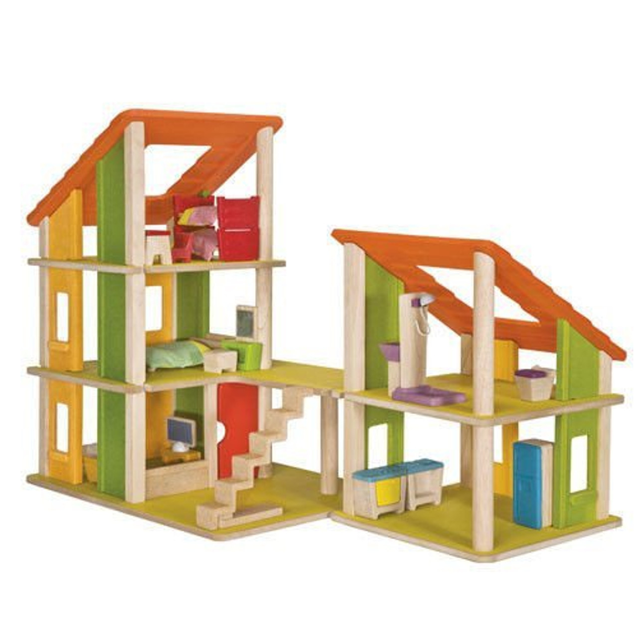 CHALET DOLLHOUSE WITH FURNITUR