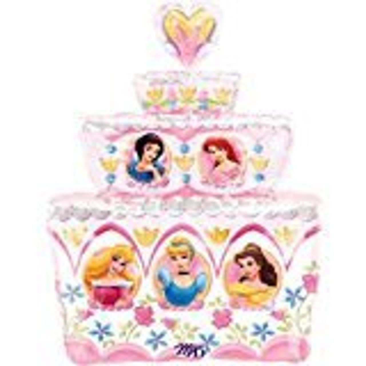PRINCESS BDAY CAKE FOIL BALLOO