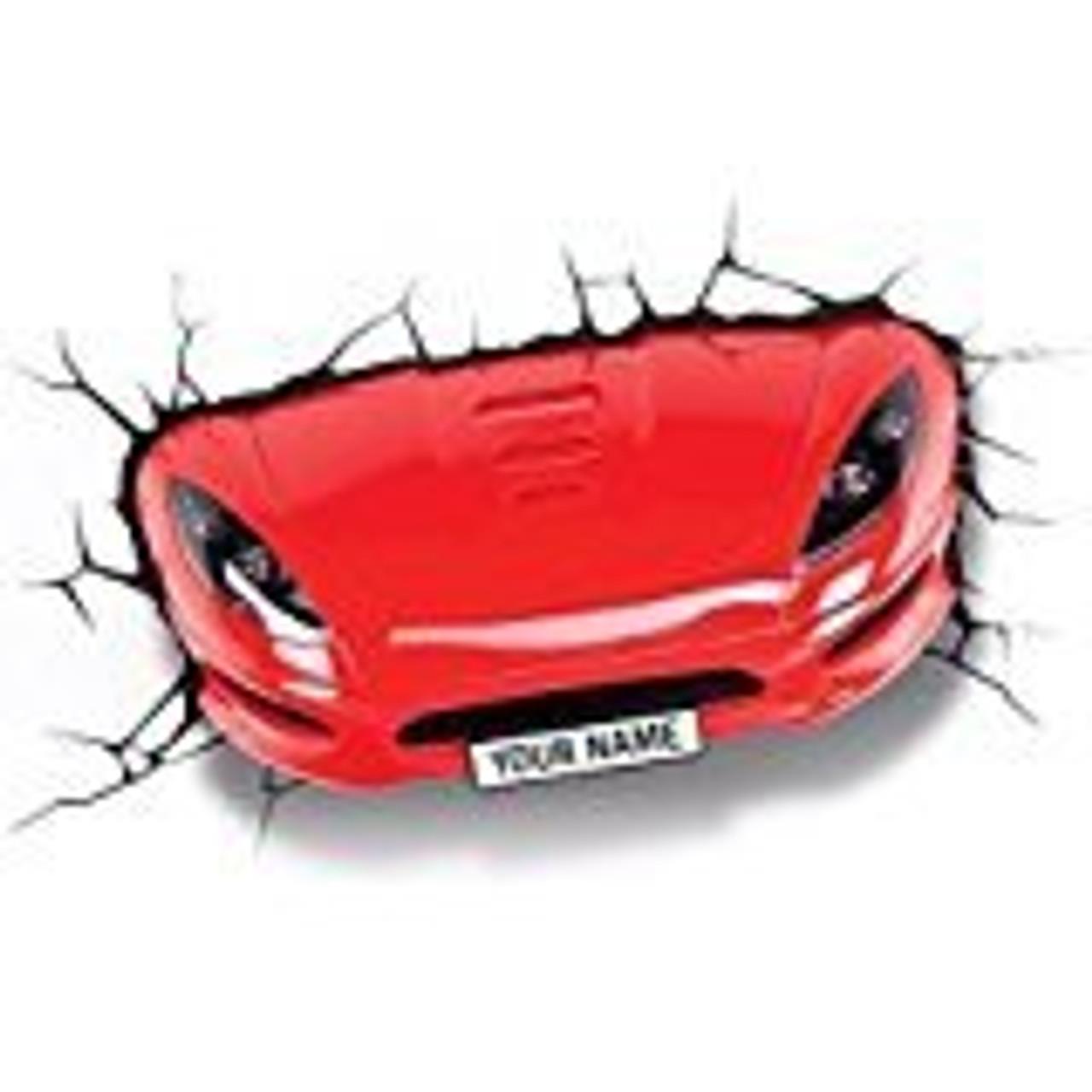 3D DECO LIGHT SPORTS CAR RED