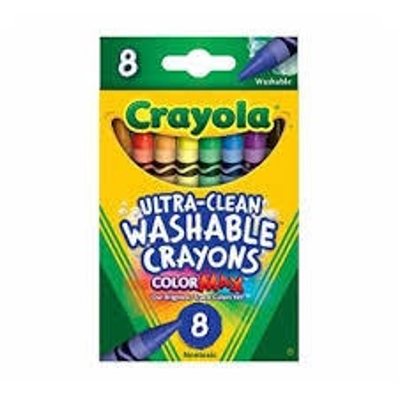 8CT WASHABLE CRAYONS CRAYOLA