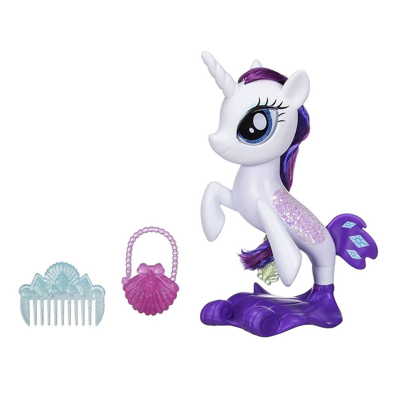 MY LITTLE PONY THE MOVIE GLITTER & STYLE SEAPONY RARITY