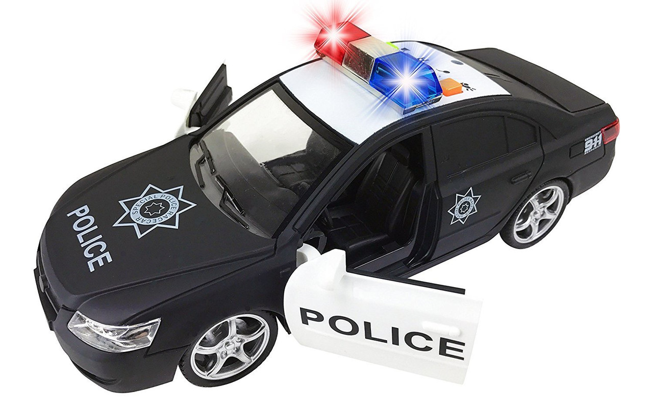 1:16 LIGHT & SOUND POLICE CAR BLACK