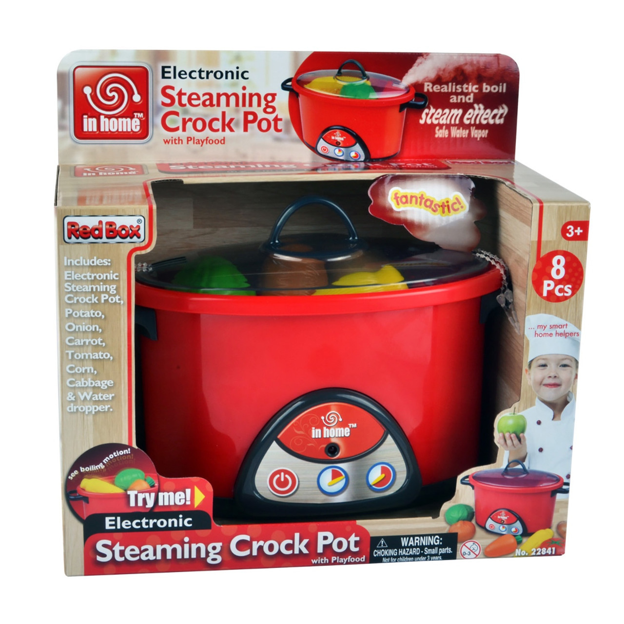 ELECTRONIC STEAMING CROCK POT WITH PLAYFOOD