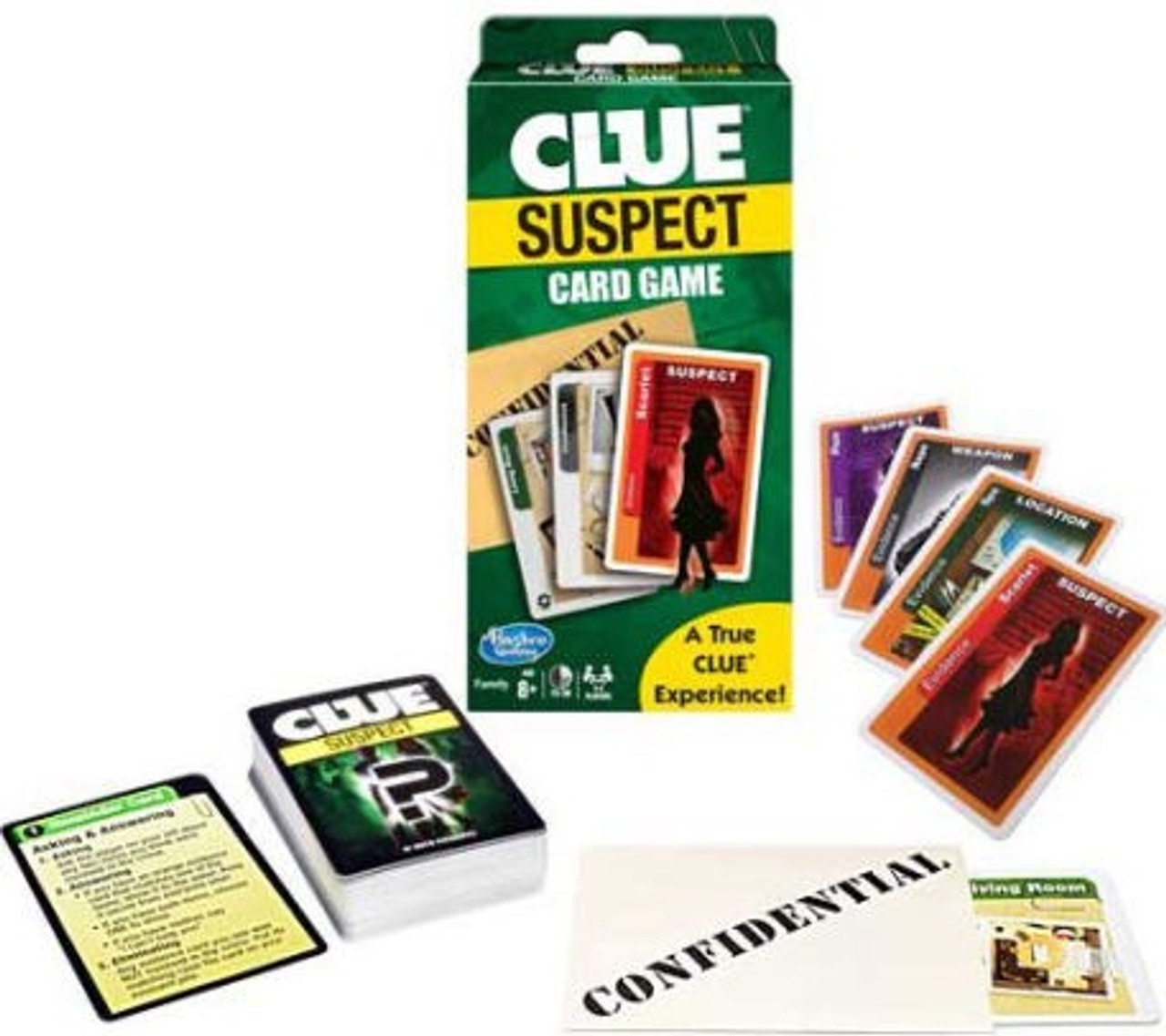 CLUE SUSPECT CARD GAME