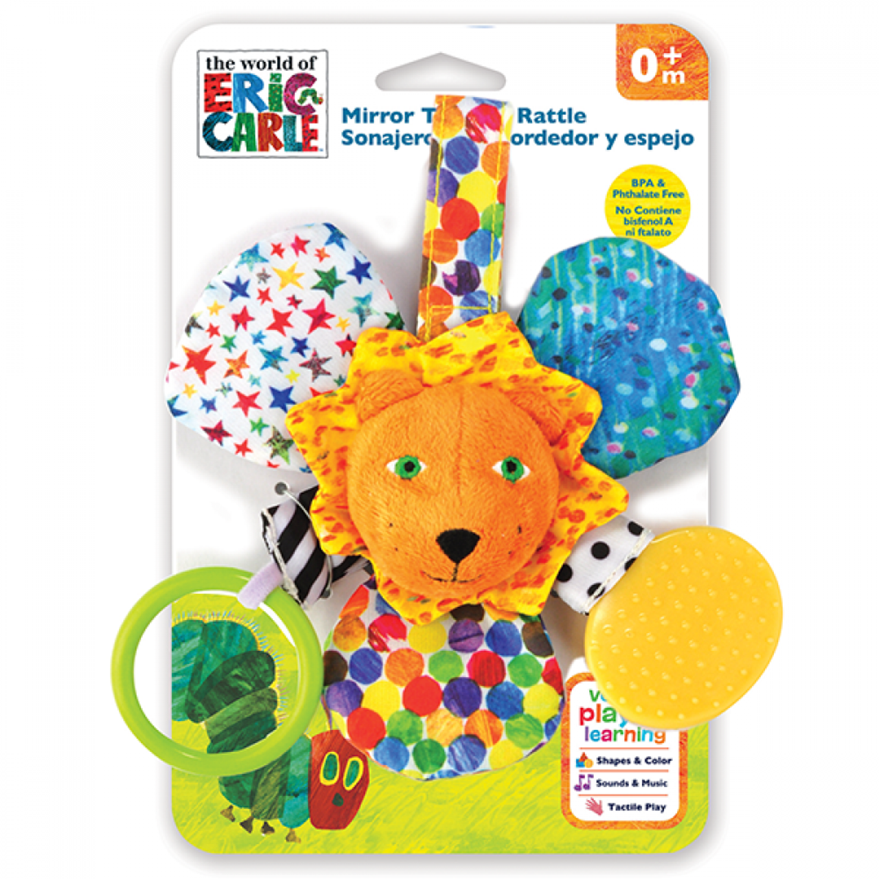 CATERPILLAR MIRROR TEETHER RATTLE