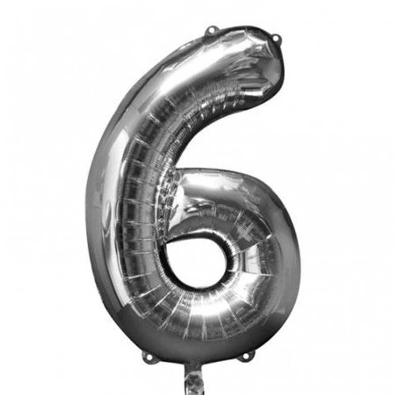"""NUMBER 6 SILVER BALLOON 34"""""""
