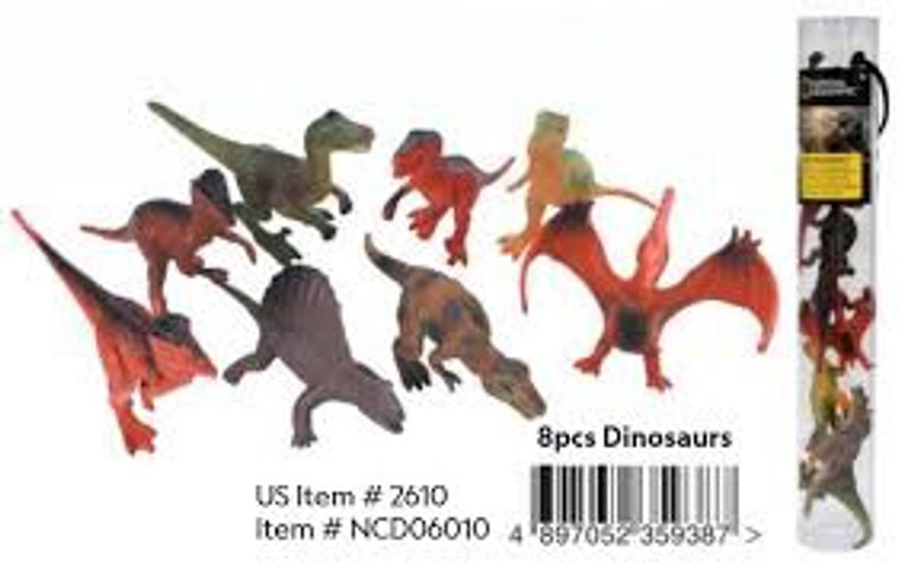 NAT GEO 8 PCS DINOSAURS TUBE