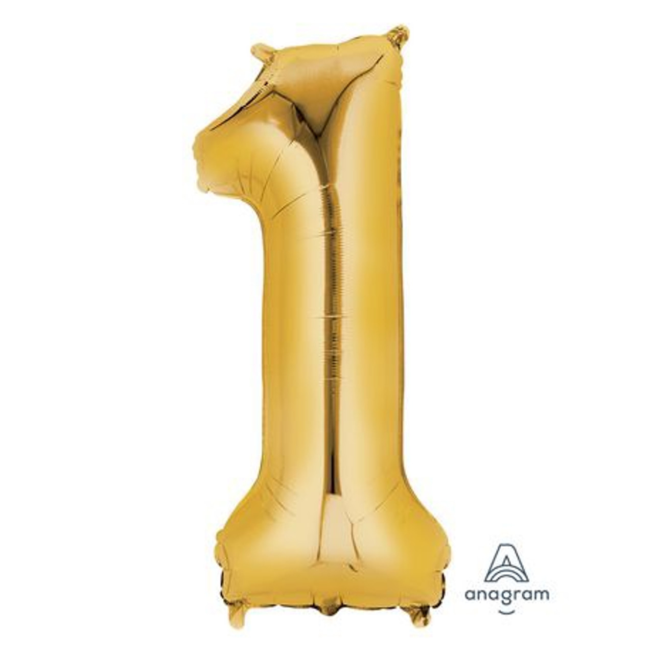 NUMBER 1 GOLD BALLOON 34 INCH