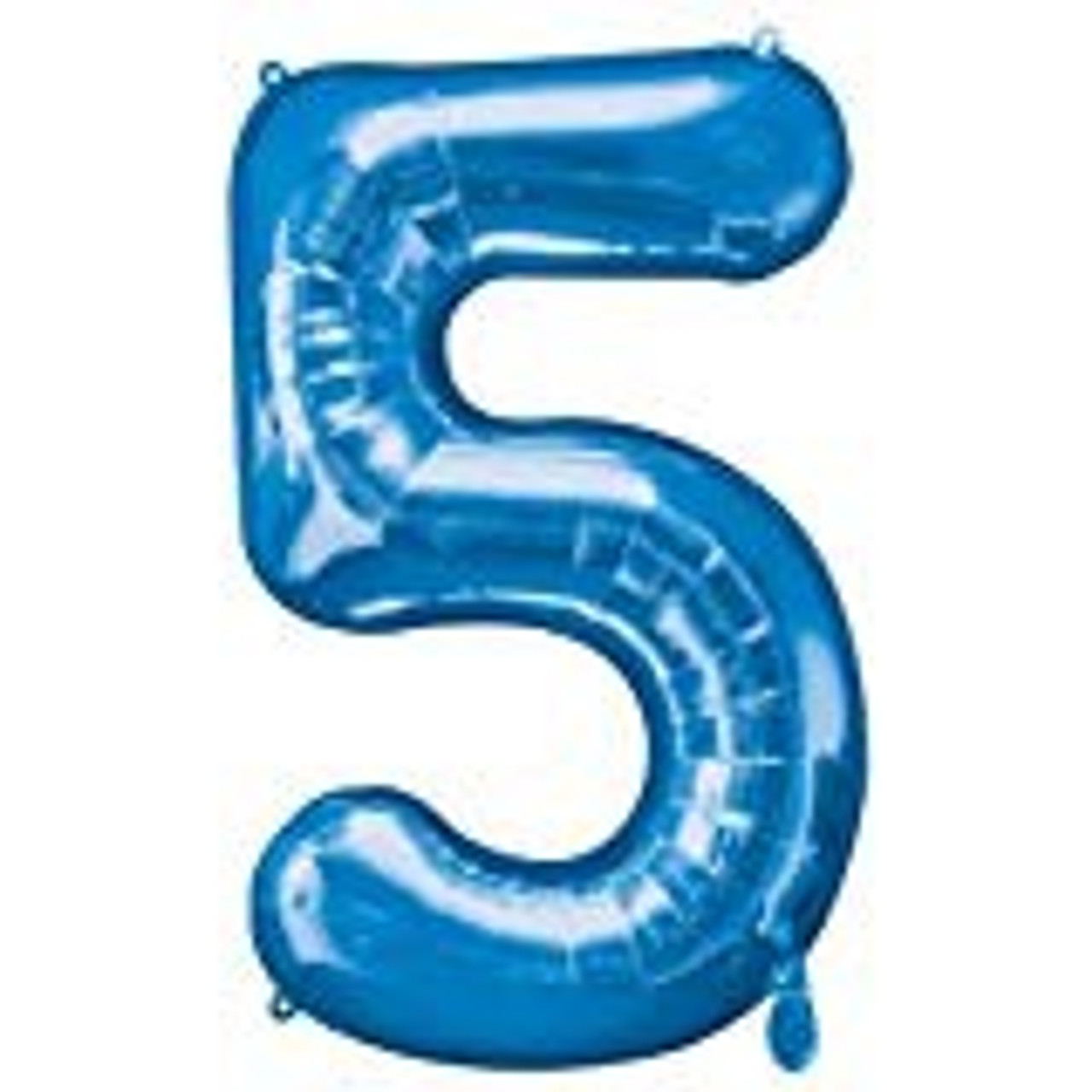 NUMBER 5 BLUE BALLOON 34 INCH