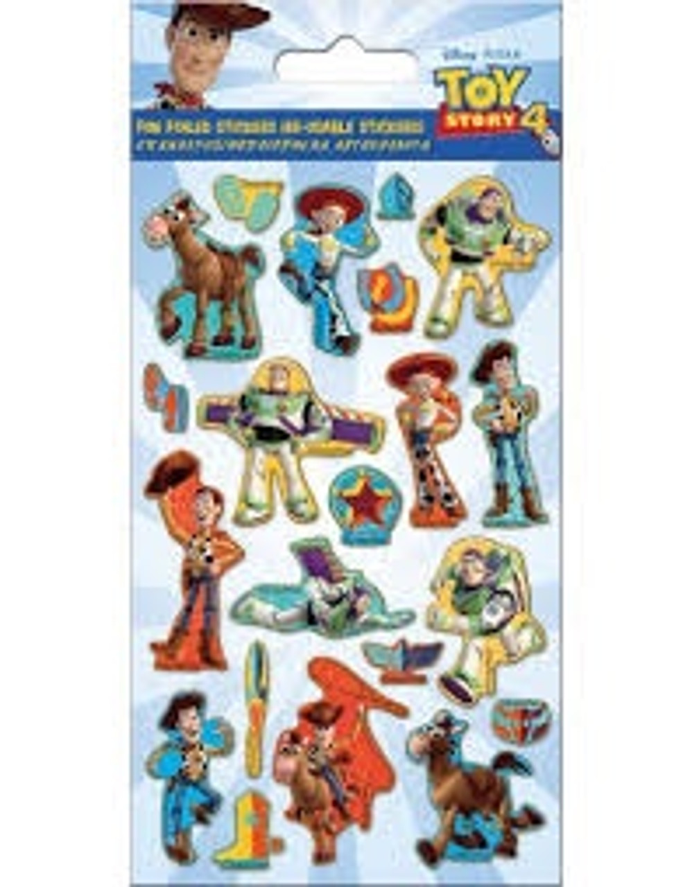 TOY STORY 4 FOILED STICKERS