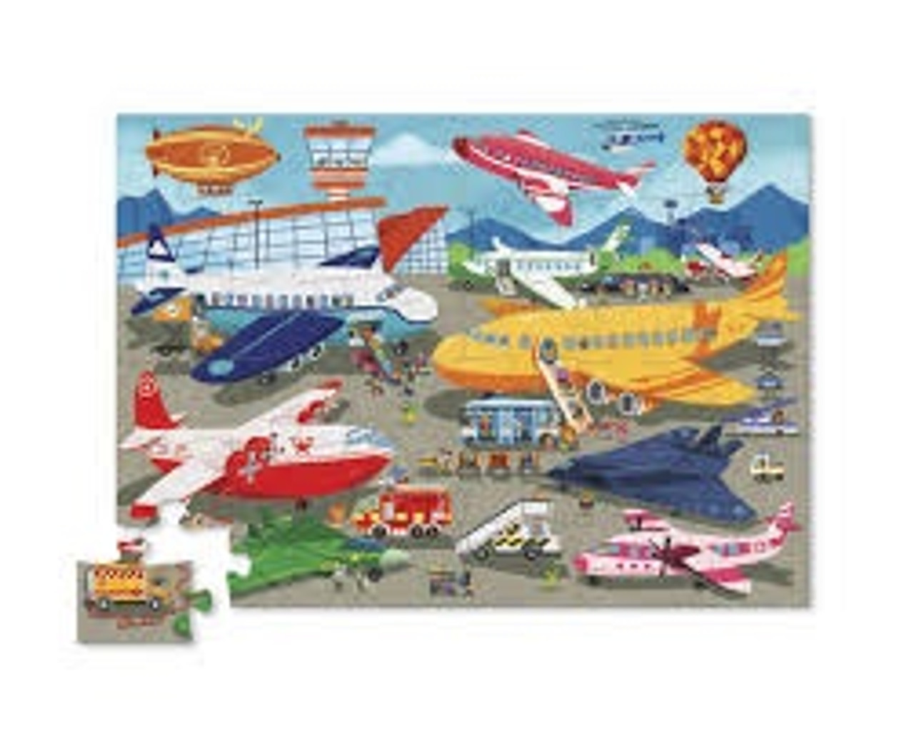 BUSY AIRPORT FLOOR PUZZLE 36 PCS