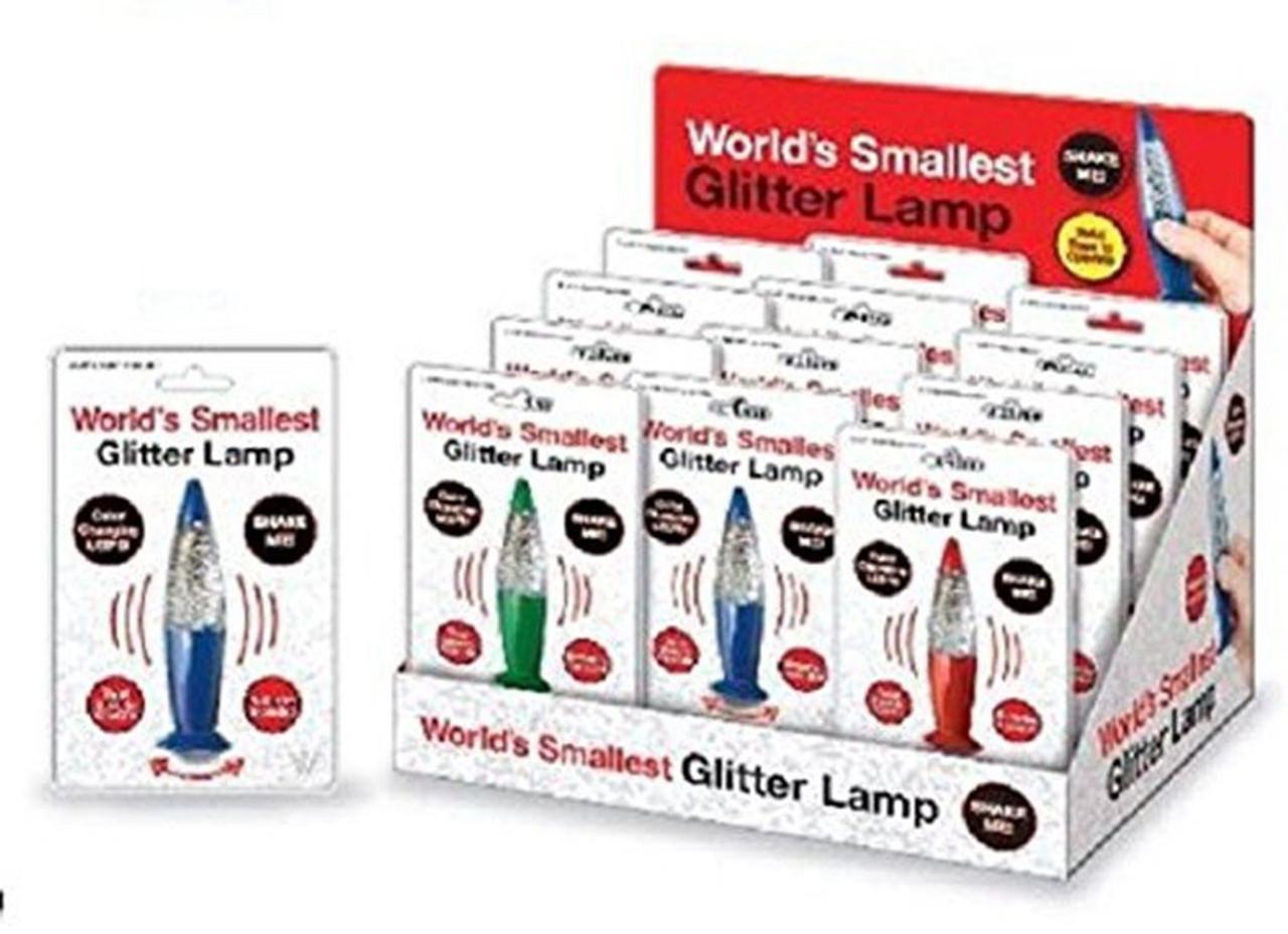 WORLD'S SMALLEST GLITTER LAMP