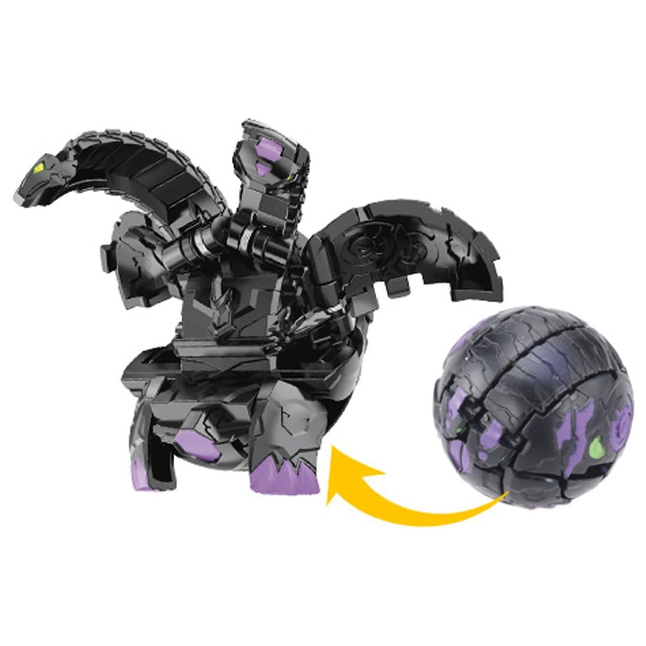 BAKUGAN BP BASIC 004 BALL 6D DOUBLE HEADED DRAGON BLACK