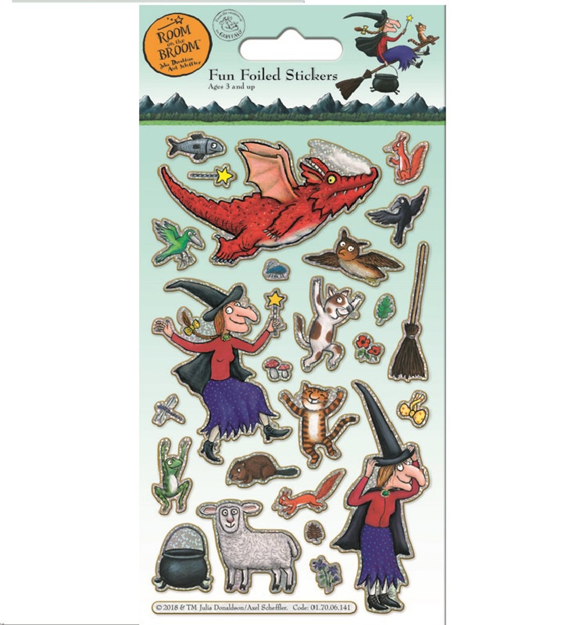 ROOM ON THE BROOM FOILED STICKERS