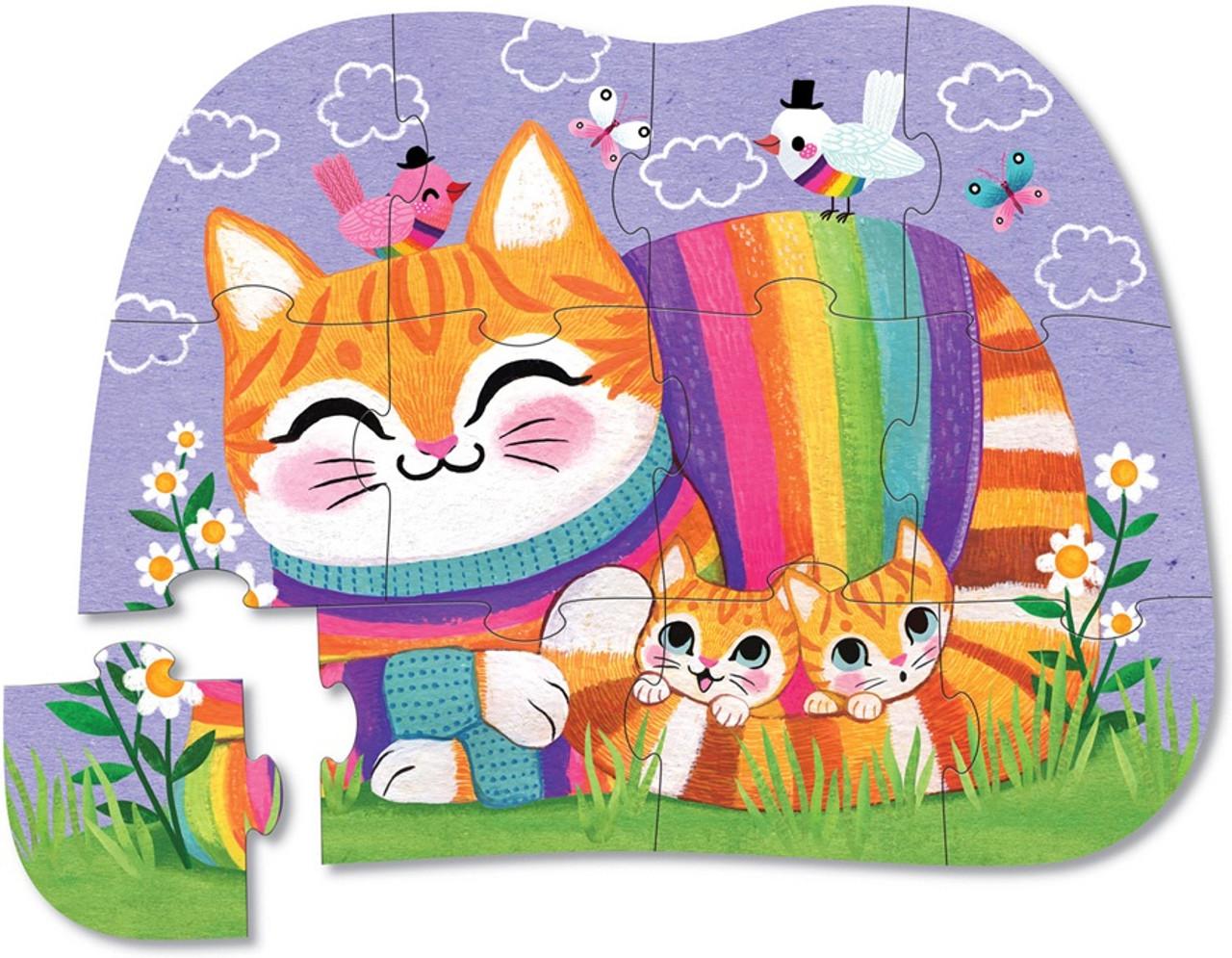 CUDDLY CAT MINI PUZZLE 12PCS
