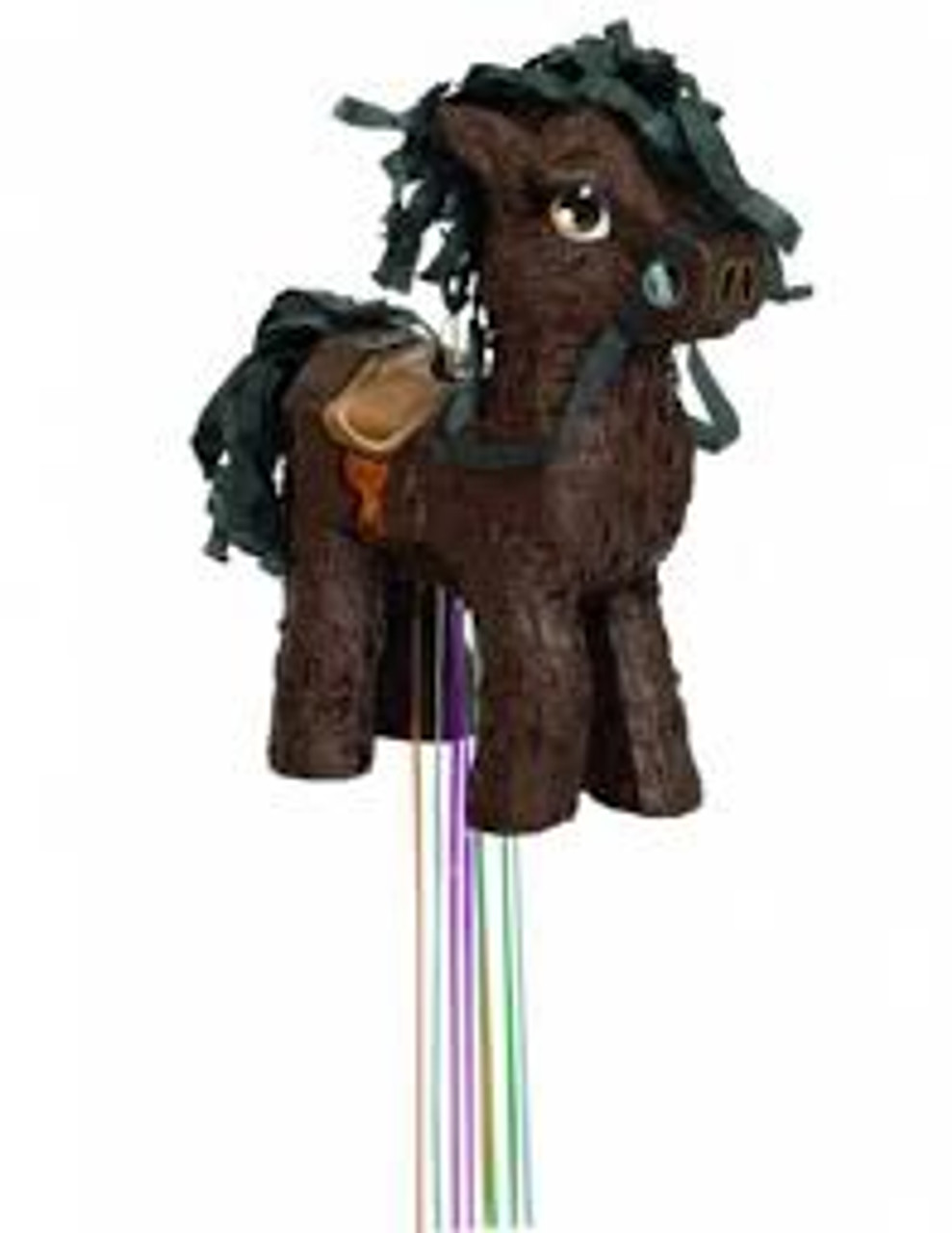 BROWN HORSE 3D PULL PINATA