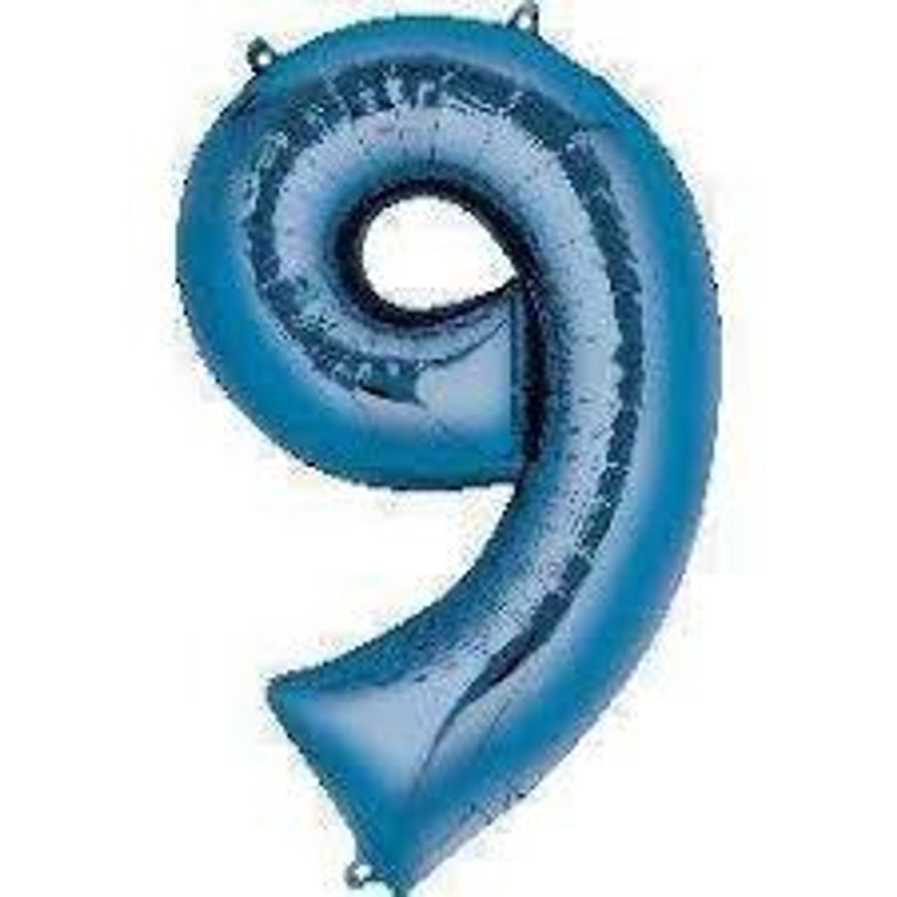 NUMBER 9 BLUE 34'' W1