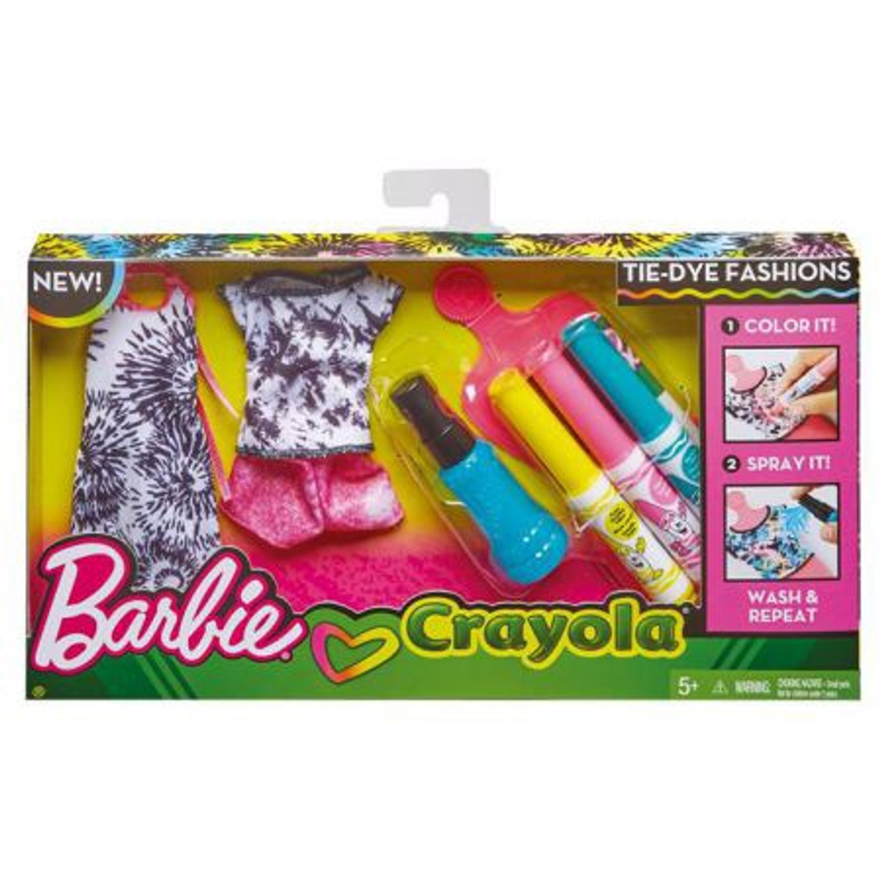 BARBIE CRAYOLA DIY TIE DYE FASHION