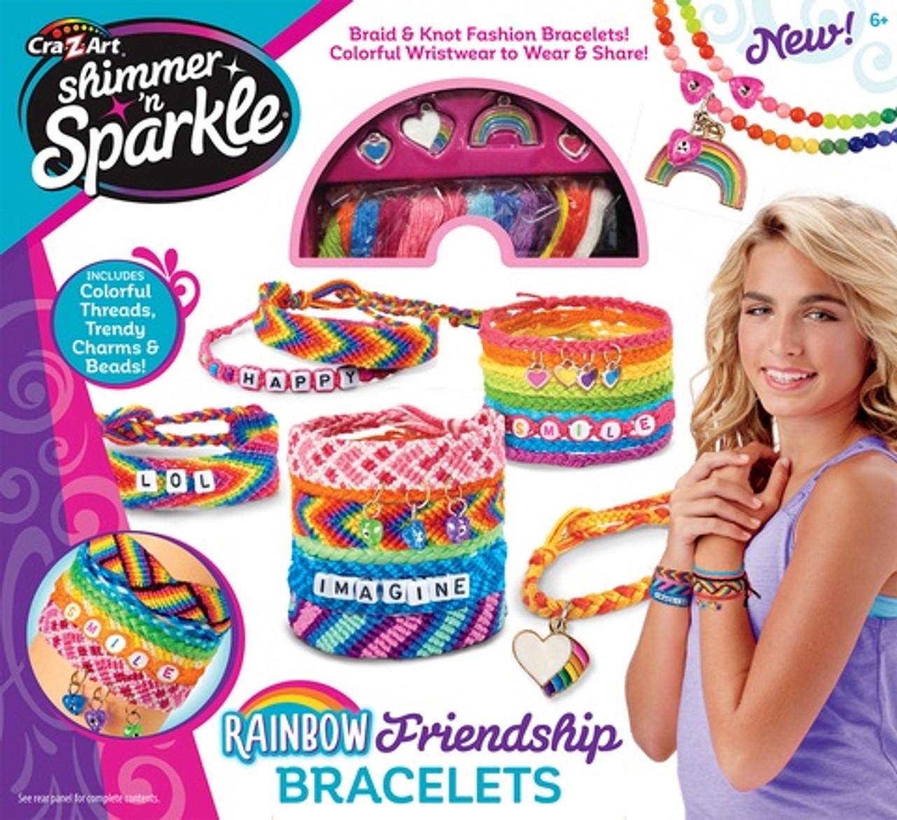 SHIMMER AND SPARKLE RAINBOW FRIENDSHIP BRACELET