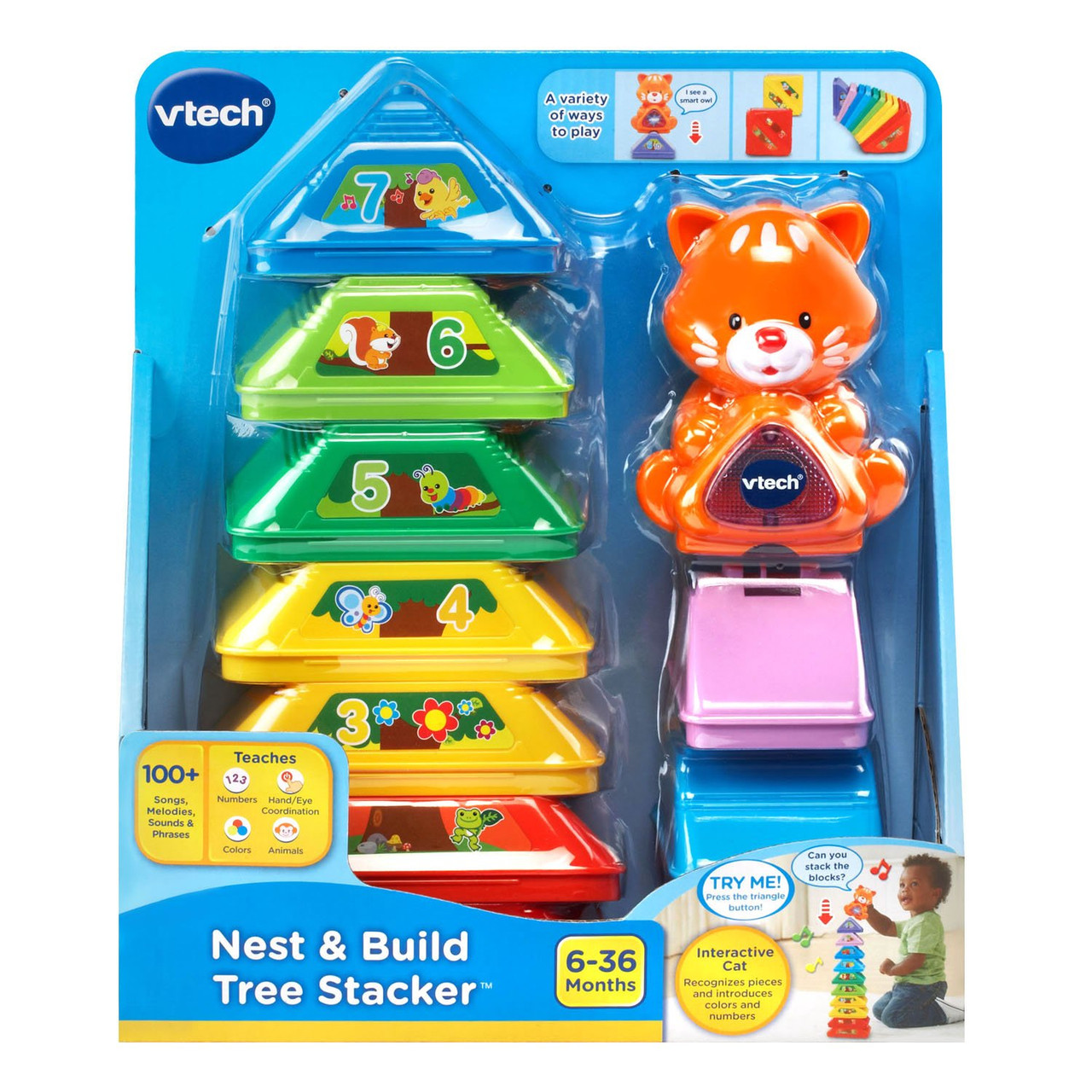 VTECH NEST & BUILD TREE STACKER
