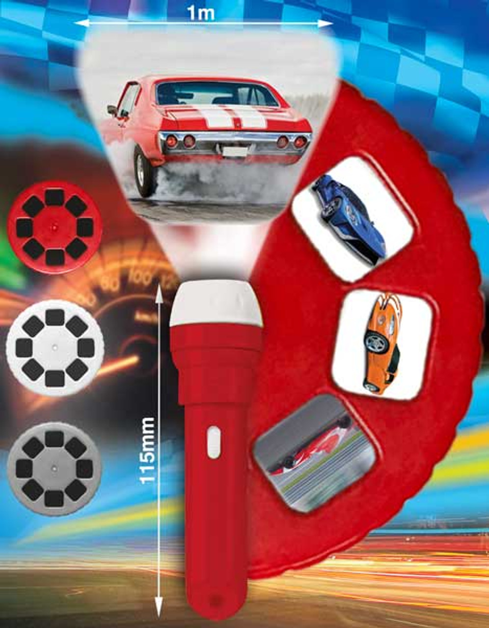 SUPER CARS TORCH AND PROJECTOR