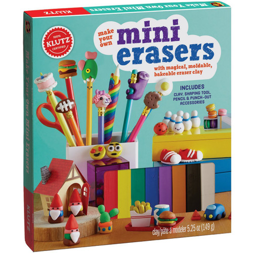 MAKE YOUR OWN MINI ERASERS WITH MAGICAL, MOLDABLE, BAKEABLE ERASER CLAY