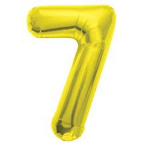 NUMBER 7 GOLD 34''