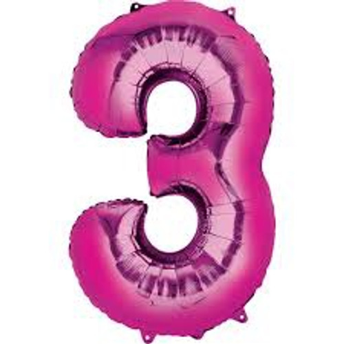 NUMBER 3 PINK 34''