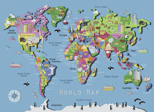 NAT GEO THE WORLD KIDS MAP