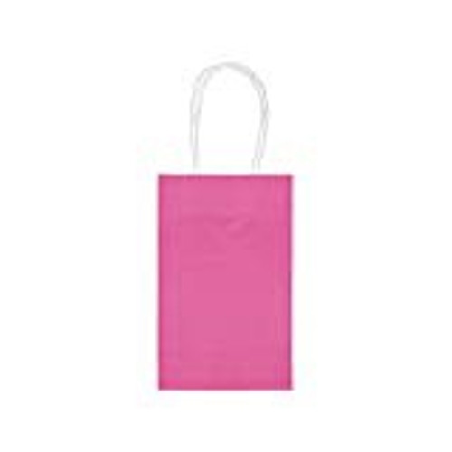 TREAT BAGS 10 BRIGHT PINK