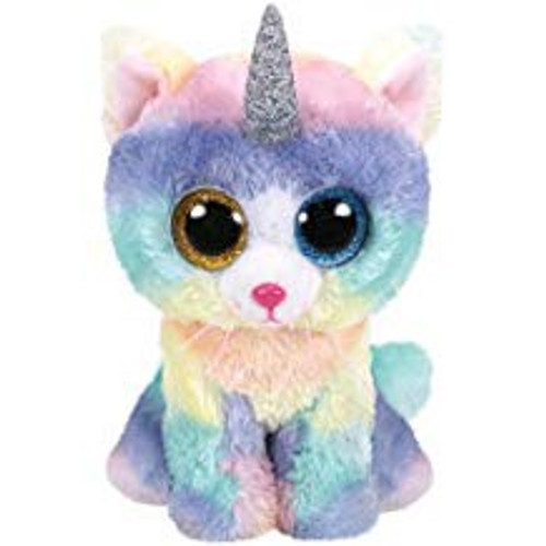 BEANIE BOOS CAT WITH HORN HEATHER