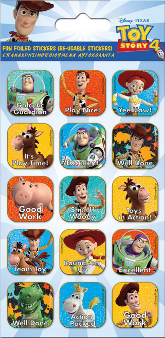 TOY STORY 4 CAPTIONS FOILED STICKERS