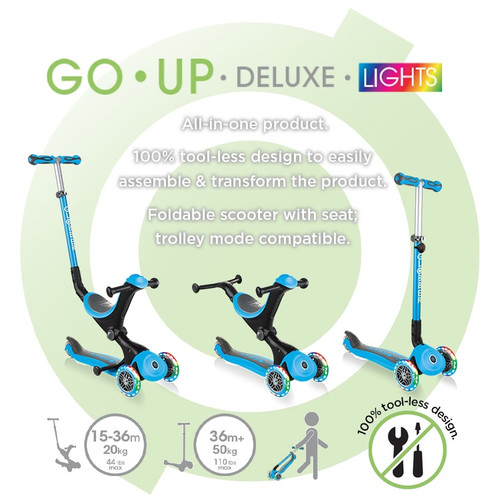 GLOBBER GO UP DELUXE LIGHTS BLUE