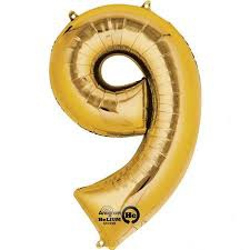NUMBER 9 GOLD 34'' W1