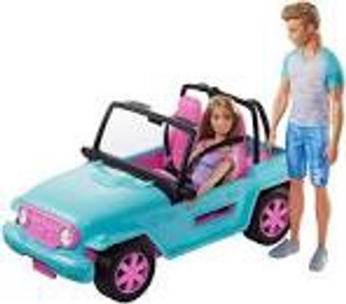 BARBIE AND KEN JEEP SET