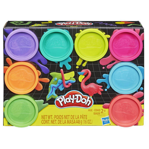 PLAY-DOH 8 X 2 OZ TUBS W1