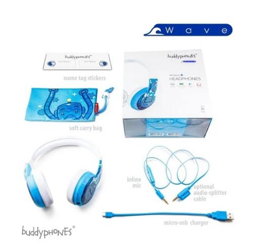 BUDDYPHONES WAVE ROBOT BLUE