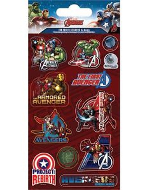 AVENGERS FUN FOILED STICKERS W1