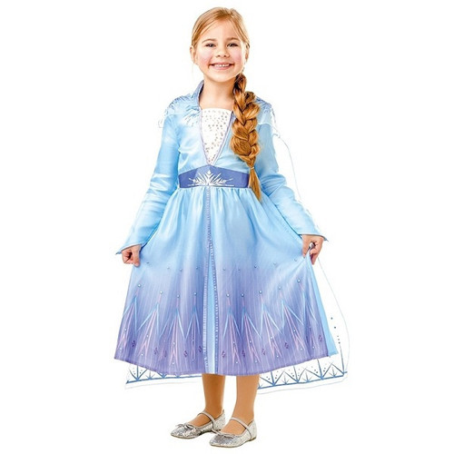 FROZEN II DELUXE ELSA DRESS MEDIUM 5-6 YEARS