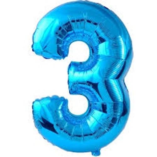 NUMBER 3 BLUE 34'' W1