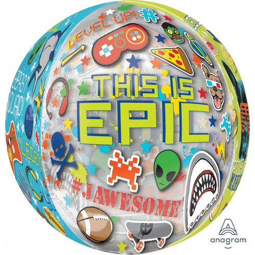 ORBZ EPIC PARTY FOIL BALLOON 15 INCHES