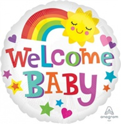 WELCOME BABY BRIGHT FOIL BALLOON